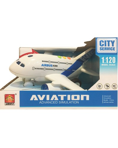 Самолет батар. WY730A свет, звук, в коробке 24*32*19см