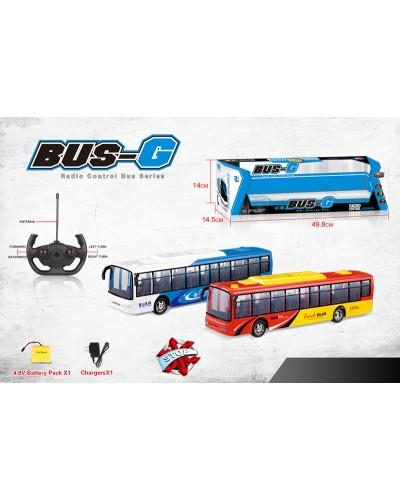 Автобус аккум. р/у 666-695A 2 цвета, звук, в кор. 49,8*14,5*14см