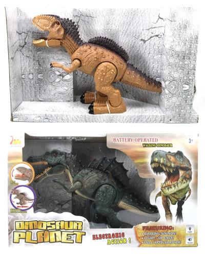 Интерактивное животное RS6177/8 (1665419/20) Динозавр, 2 вида, батар, звук, свет, ходит, в короб.