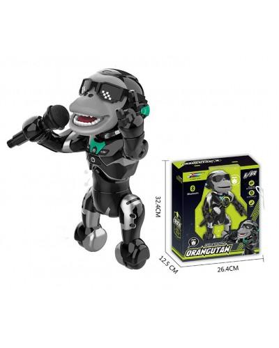 Робот- обезьяна батар. Q2 свет, звук, поет, в коробке 32,4*26,4*12,5см