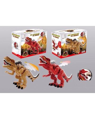 Интерактивное животное 3319 2 вида, динозавр, батар., звук, свет, в коробке 16*26*22см