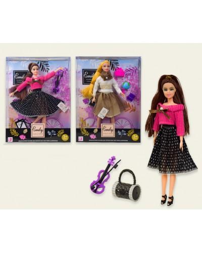 "Кукла ""Emily""  QJ070A/C 2 вида, шарнир, аксесс, в кор. 24*6*32 см"