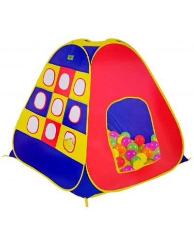 """Палатка 8122 """"Домик"""", в пакете 40*38*65см /размер изделия 112*112*114см/"""