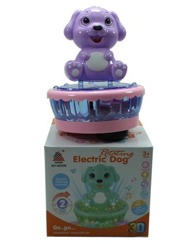 Муз. животное ND100/099 2 цвета, слоник и собачка, свет, звук, размер игрушки - 13*13*16см, в кор.