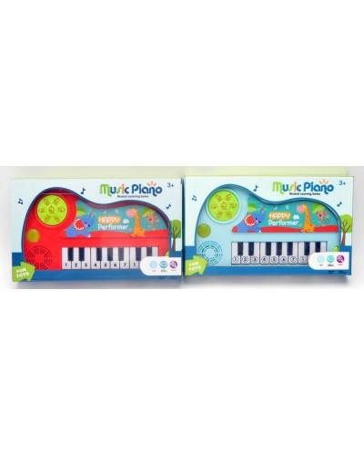 Муз.орган 6942 2 цвета, звук,свет, размер игушки - 12,5*2,5*13,5см, в коробке 23*4*14см