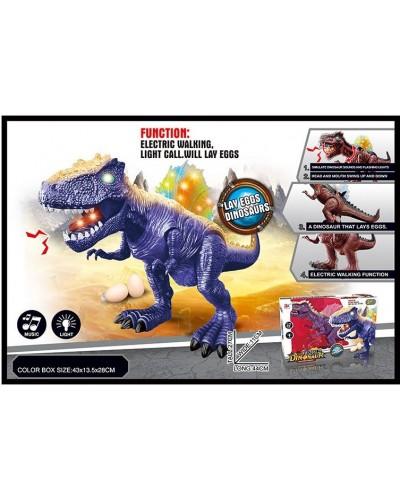 Интерактивное животное 864A батар., динозавр, 2 цвета, звук, свет, ходит, в коробке 43*13,5*28