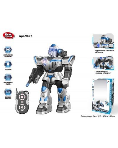 """Робот батар. р/у """"PLAY SMART"""" 9897 звуковые эффекты, свет, ходит, танцует, в коробке 48*31,5*16,5см"""