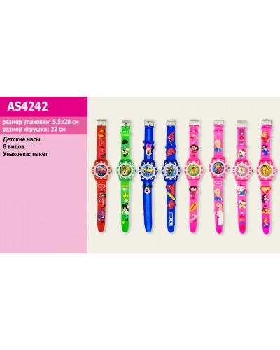 Детские наручные часы AS4242 микс видов, 4*22см в пакете