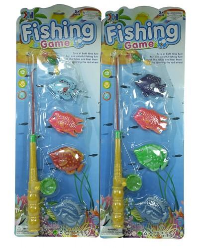 Рыбалка 102B, магнит., удочка, рыбки, на планшетке 51*18см