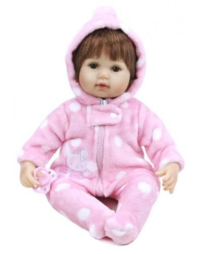 Кукла  реборн KD18140 с соской, 44 см, в кор. 25,5*23*31,5см