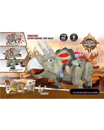 Интерактивное животное 849A динозавр, свет, звук, ходит, в кор. 41*14*18см