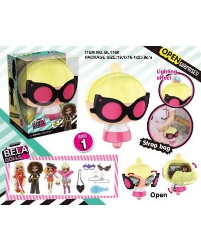 Игровой набор кукла Bela Dolls BL1160  сумка в кот. кукла 17,5см + сюрпризы: одежда, украшения
