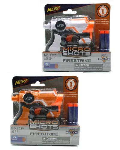 Бластер 7025 стреляет поролон. снарядами, 3 вида, на планшетке 17,8*17,8см