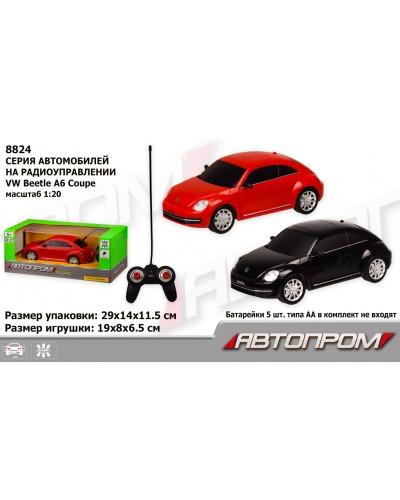 "Машина батар. р/у 8824 ""АВТОПРОМ"", 1:20 R/C VW Beetle, 2 цвета, в коробке 29*14*11,5см"
