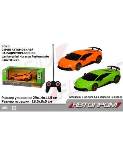 """Машина батар. р/у 8828 """"АВТОПРОМ"""", 1:24 R/C Lamborghini Huracan Performante, 2 цвета, в коробке"""