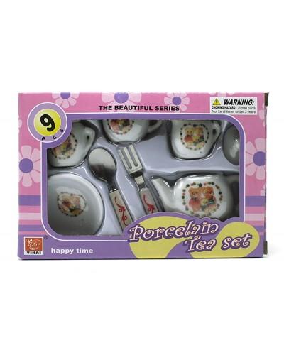 Посуда фарфор YH5989-C916 чайник, чашечки, тарелочка, приборы, в кор.