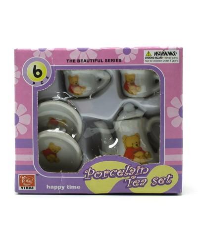 Посуда фарфор YH5989-X110  4 вида, чашник, чашечки, тарелочки, в кор.