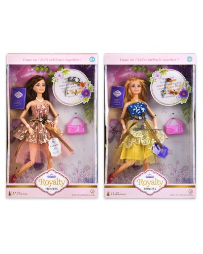 Кукла  JX200-76 2 вида,сумочка,аксессуары, р-р куклы - 29 см, в кор.22*6*35 см