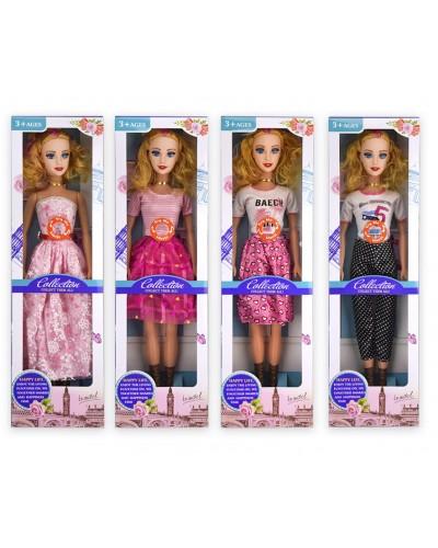 Кукла большая 6722A-1/2/3/4 (1878076/7/8/9) 4 вида, муз. р-р игрушки – 56 см, в кор. 17*7,5*58
