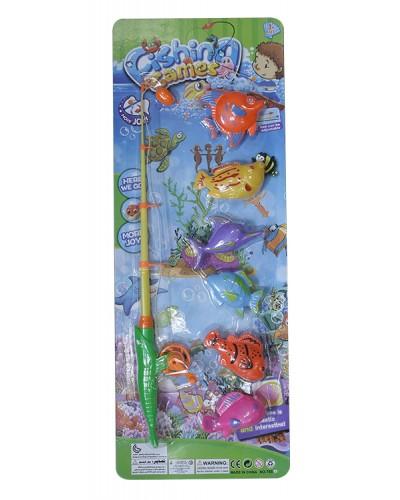 Рыбалка 755A магн. удочка, рыбки, на планшетке 57,5*21,5см