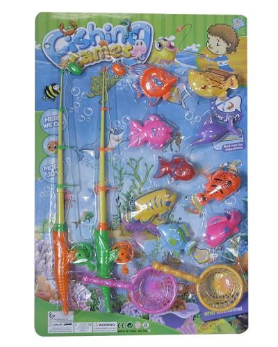 Рыбалка 766A 2 магн.  удочка, рыбки, на планшетке 57*38см