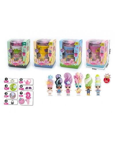 Игровой набор LK1054 кукла типа L,  4вида, в кор.13,2*9,6*9,6см