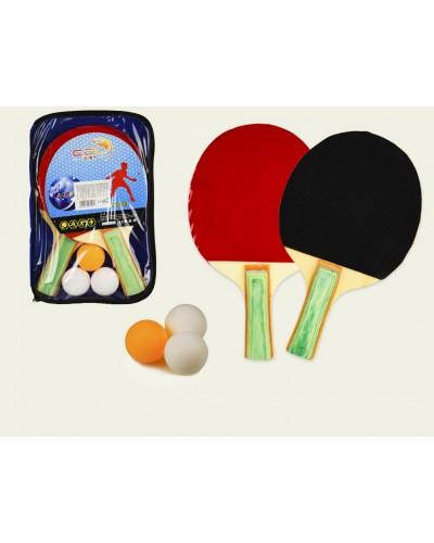 Набор для настольного тенниса TT2025 2 ракетки, 3 мячика