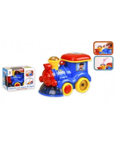 Муз.паровоз ZR121 батар, муз, с паром, р-р игрушки – 18*11*12.5 см, в кор. 18,5*11*13,5см