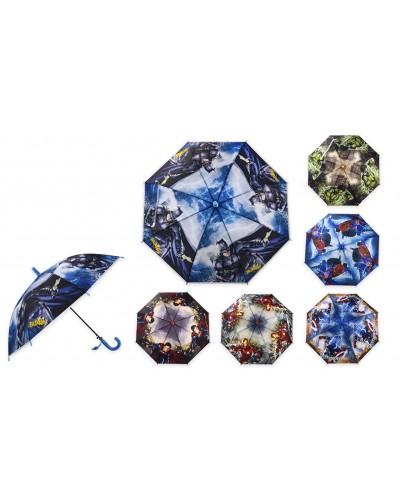 Зонт K262 для мальчиков, 6 видов, р-р трости – 66 см, диаметр в раскрытом виде – 75 см