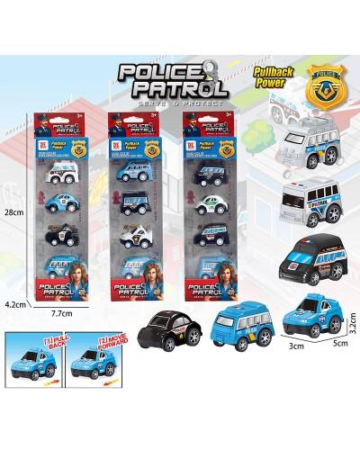 Набор транспорта инерц. Police BYD168-301  3 вида, в кор. 28*4,2*7,7см