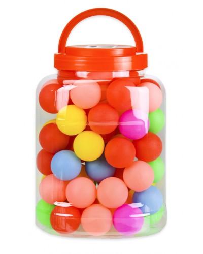 Мячи для настольного тенниса TT2022  MIX 6 цветов, 60 мячей в капсуле