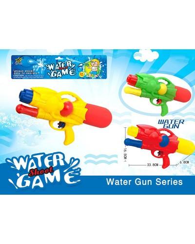 Водяной пистолет M393 с насосом, MIX 3 цвета 16,5*33,8*6,8 см