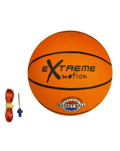 Мяч баскетбольный BB20102  №7, резина, 600 грамм, оранжевый