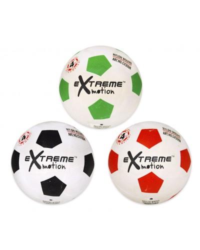 Мяч футбольный FB20111  №5, резиновый, 380 грамм, MIX 3 цвета, допол.: сетка+игла