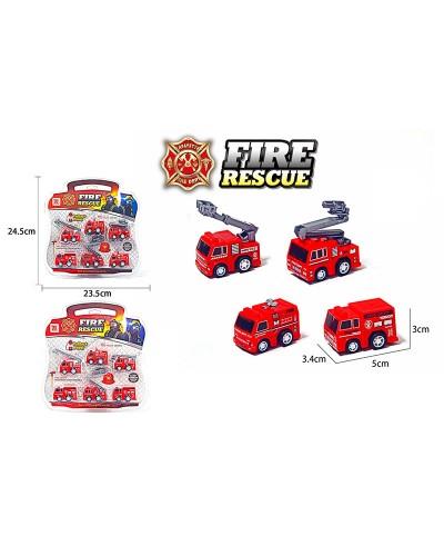 Набор транспорта инерц. Fire rescue DYB168-310  6 машинок в комплекте, под слюдой 23,5*24,5 см