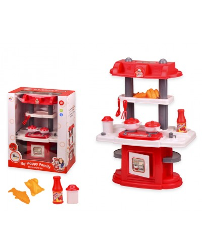 "Набор ""Кухня"" 5211 свет, звук, посуда, в кор. 34*19*43 см, р-р игрушки – 30*18*41 см"