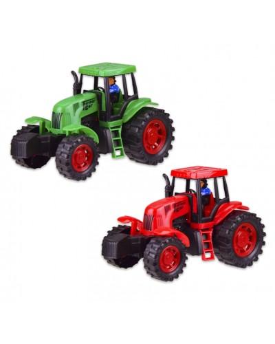 Трактор  798-A1  инерц., 2 цвета, в кор. 22*10.5*12.5 см, р-р игрушки – 20.5*10*10.5 см
