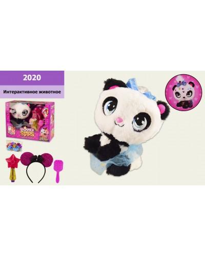 Интерактивное животное  2020 Панда, в наборе аксессуары, в коробке 28,5*14*24 см