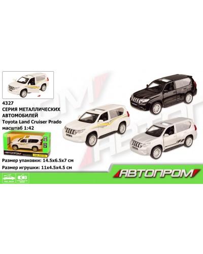 """Машина металл 4327 """"АВТОПРОМ"""", 1:42 Land Cruiser Prado, 3 цвета, откр. двери, в кор. 14,5*6,5*7см"""