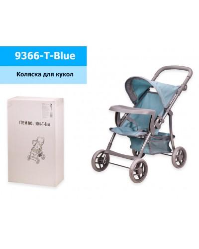 Коляска 9366-T-Blue мет, прогулочная, с козырьком, столик, с корзиной, в кор. 30*15*50 см