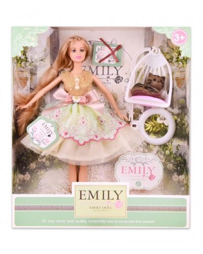 """Кукла  """"Emily"""" QJ088C с аксессуарами, р-р куклы - 29 см, в кор. 28,5*6,5*32,5см"""