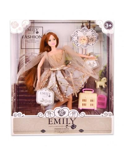 """Кукла  """"Emily"""" QJ090C с аксессуарами, р-р куклы - 29 см, в кор. 28.5*6,5*32,5 см"""
