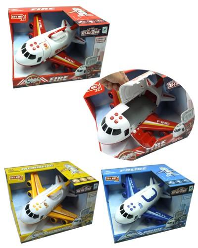 Самолет на батарейках 660-A242/3/4, 3 вида, 1:64, с эффектами, инерционный