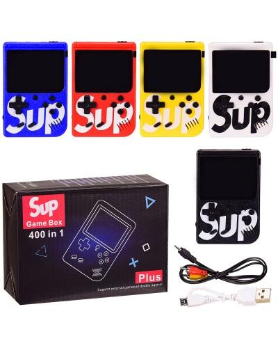 Игровая консоль портативная CY2222 400 игр, зарядное, 5 цветов микс, в короб.20*14см
