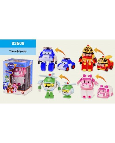 Трансформер 83608  4 вида, в коробке 11*10*15 см, р-р игрушки – 9*6.5*13 см