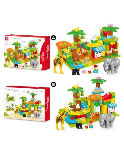Конструктор зоопарк животные 188-437 2 вида, в кор. 55*39*8см