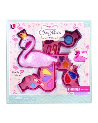 """Косметика """"Фламинго"""" 10389A 3 яруса, тени, помада, лак, кисточки, в кор. 26,5*6,5*26 см"""