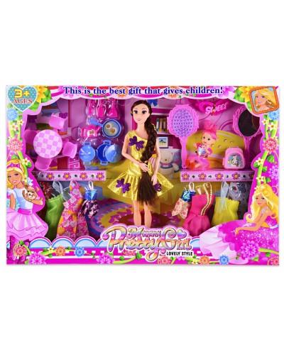 Кукла  501-31 (1967203) с нарядами, платья, аксессуары, в кор. 49*6*33 см, р-р игрушки – 29 см