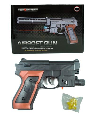 Пистолет 238B (120шт/2) лазер,пульки в коробке 23,5*16*4см