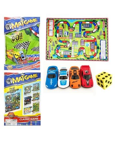 """Игровой коврик RC222-3 (72шт/2)""""Rally"""",машинки, в пакете 40*28см"""